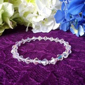 Swarovski Clear Handmade Stretch Bracelet